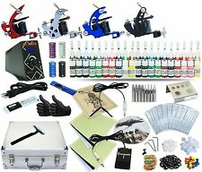Complete Tattoo Kit 4 Machine Set Equipment Power 40 Color Inks TKA-7-4