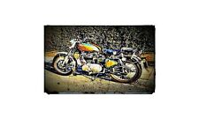 1968 royal enfield bullet Bike Motorcycle A4 Retro Metal Sign Aluminium