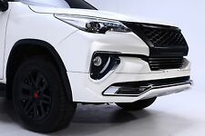BLACK FRONT GRILL GRILLE COVER TRIM FOR NEW TOYOTA FORTUNER SUV 2016 2017