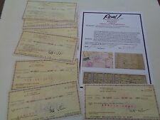 ALLMAN BROTHERS SEVEN ORIGINAL ROYALTY CHECKS  R BETTS JANICE AND SHELLEY ALLMAN
