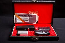 Vintage Minolta 16 MG Spy Camera Set w/ Case and Paperwork