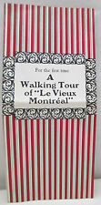 Vintage A Walking Tour Of Le Vieux Montreal Canada Tourist Souvenir Brochure