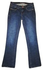 """OLD NAVY """"The Sweetheart"""" Dark Blue Faded Stretchy Boot Cut Denim Jeans SIZE 1"""
