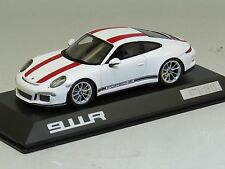 Spark 1/43 Porsche 911R (991) White / Red 1911pcs Limited IAA 2016 WAP0201460J