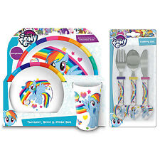 My Little Pony 6 Piece Tableware Set - Dinner Set & Cutlery *NEW