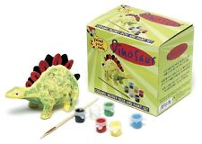 Kids Paint Your Own Ceramic DINOSAUR MONEY BOX with Paints Box get CREATIVE Fun