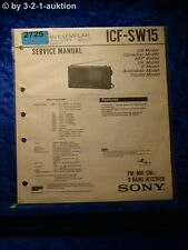 Sony Service Manual ICF SW15 9 Band Receiver (#2725)