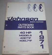 Parts Book Johnson Sea Horse Ersatzteilkatalog 40 HP Models 40E71F 40EL71F 1971