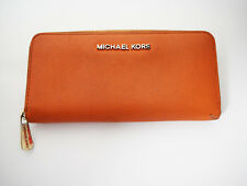 Authentic Michael Kors Jet Set Large Purse Wallet Orange