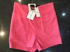 NWT Brigitte Bardot New & Genuine Ladies Size Small Pink High Waisted Shorts