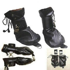 Quality PU Leather Restraint Lockable Mitts Deprivation Mitts Gimp Fetish