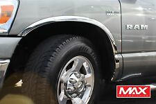 FTDO101 - 02 - 08 Dodge Ram 1500 Short Bed CHROME Stainless Steel Fender Trim