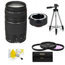 Canon EF 75–300mm + 150-600mm TELEPHOTO ZOOM LENS + TRIPOD  FOR CANON EOS REBEL