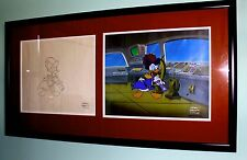 "Disney original cel, background and matching drawing from ""Quack Pack"" 3"