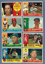 1960 TOPPS  BASEBALL EX to NRMT COMPLETE YOUR SET - U PICK ANY FIVE