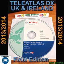 TELEATLAS DX 2014 pour volkswagen audi seat SKODA FORD nav disc uk navigation cd