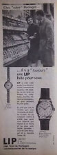 PUBLICITÉ DE PRESSE 1959 MONTRES CALENDRIER LIP DATOLIP  - ADVERTISING