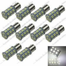 10X White BAU15s 27 5050 SMD Car LED Bau15s 150° 7507 PY21W Brake Tail Light