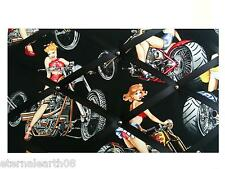 Harley/Biker Pin Up Gals 40 x 30cm Pin Board Notice Boards Memo / Message Board