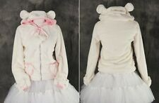 M-02-T One Size creme Teddy Plüsch plush Fleece Jacke Jacket Hoodie Zipper