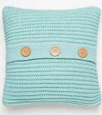 Duck Egg Chunky Knit Knitted Cosy Scatter Cushion Cover By Catherine Lansfield