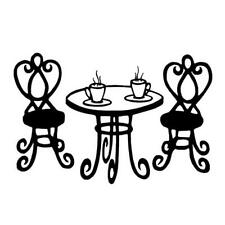 Paris Cafe Table, French UNMOUNTED rubber stamp, France, friend #22