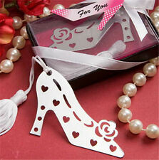 FD3386 Rose Heel Style Creative Exquisite Alloy Bookmarks With Ribbon Box Gift ☆
