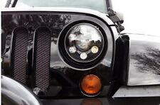 "7"" Round CREE LED Black Projector Headlight Jeep Wrangler JK/TJ/LJ/CJ Hummer H1"