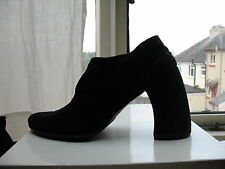 Ann Demeulemeester vintage collectible black suede iconic heeled boots/ 38