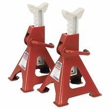 Sealey Axle Stands Ratchet Type 3tonne Capacity per Stand 6tonne per Pair VS2003