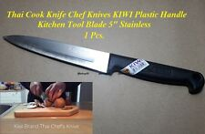 "KNIFE HIGH QUALITY THAI KIWI BRAND PLASTIC HANDLE KITCHEN TOOL 9"" STAINLESS"