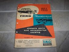 1955 Ford Thunderbird Fairlane Mainline Customline Chassis Parts Catalog Manual