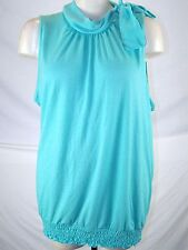 French Laundry Blue Green Sleeveless Career Top Womens Plus Size 22 24 3X