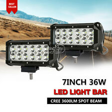 "Pair 7"" 36W Cree Led Work Light Bar Spot Beam Offroad Driving for SUV Boat Truck"