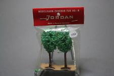V753 Jordan Ho train decor arbre arbre 65 mm 2 u années 70 Diorama vegetation