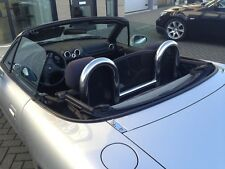 Mazda MX5 NA & MK2 spider stainless steel roll bars & wind deflector 1989-2005