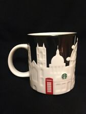 Starbucks London Relief Mug Big Ben Tower Bridge Thames Black St Pauls Cathedral