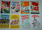 CARRY ON MOVIE POSTERS JOB LOT SET 10 COLOUR 6 X 4 GLOSSY CARDS SET TWO FILMS
