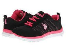 NEW ARRIVAL! US POLO USPA WOMEN'S SPIRIT BLACK PINK RUNNING TRAINING SHOES 6 36