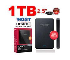 "1TB DISCO DURO EXTERNO PORTABLE 1 TB 2.5"" HGST HITACHI TOURO HDD USB2.0 & 3.0"