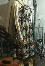 SOLD OUT! Anthropologie Bright Poppy Floral Silk Slip Dress By Anna Sui - Size 6