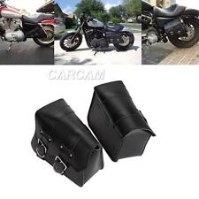 PU Side Bag Saddlebag For Harley Sportster XL 883 1200 Hugger Custom Nightster