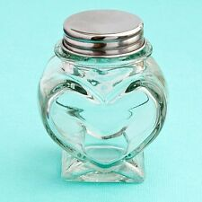 40 Glass Heart Shaped Treat Jars Wedding Shower Party Gift Favors