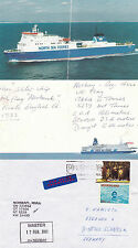 GB FERRY SHIP MV NORBAY A SHIPS CACHED COVER & A COLOUR CARD