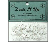 Jesse James Buttons ~ Dress It Up ~ Mini Pearl Snowflakes ~ Sew Scrap ~ Tiny