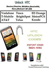 Unlock HTC One M8 T Mobile AT&T EE Three Unlocking Code Network Pin Super Fast