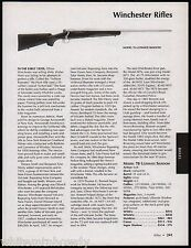 2005 WINCHESTER Model 70 Ultimate Shadow Rifle AD w/ background, specs, price