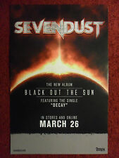 Music Poster Promo Sevendust ~ Black Out The Sun