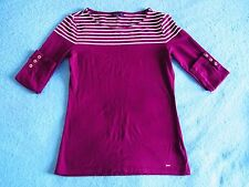 Women Ladies Original Tommy Hilfiger Top T-Shirt Size Small Purple Ladies Blouse