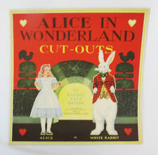 Original 1933 Paramount Productions Alice in Wonderland Cut-Out Paper Dolls Book